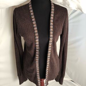 Urban Outfitters brown upcycled cardigan sweater